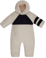 Moncler Pagliacetto Fuzzy Fleece Hooded Coverall, Size 6-24 Months