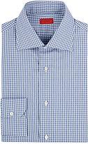 Isaia Men's Gingham Cotton Poplin Shirt