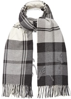 BEGG & CO. Vale Float tartan wool and cashmere-blend scarf