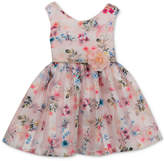 Rare Editions Floral-Print Party Dress, Baby Girls