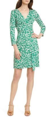 Diane von Furstenberg Miles Long Sleeve Silk Wrap Dress