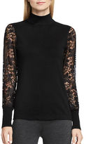 Vince Camuto Long Sleeve Turtleneck Lace Sleeve Sweater
