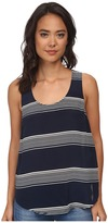 Lucky Brand Striped Cross Back Tank Top