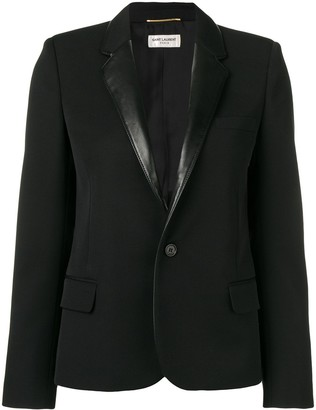 Saint Laurent Contrasting Collar Blazer