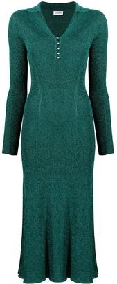 Lanvin Metallic Midi Dress