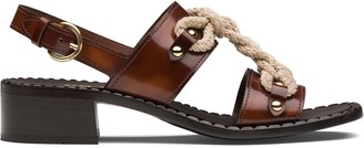 Prada Brushed Leather Sandals