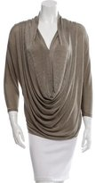 Alice + Olivia Draped V-Neck Top