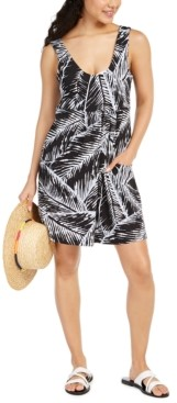 J Valdi Printed Swim Cover-Up Dress Women's Swimsuit