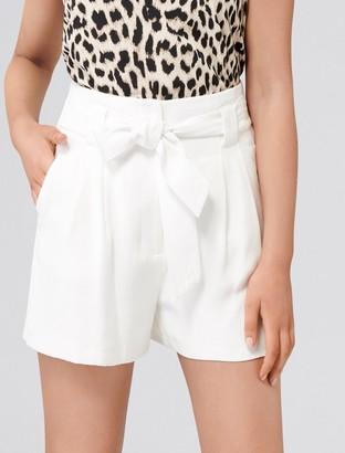 Forever New Natalia Tie Waist Shorts - Porcelain - 16