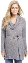 Maternity Oh Baby by MotherhoodTM Marled Cowlneck Tunic