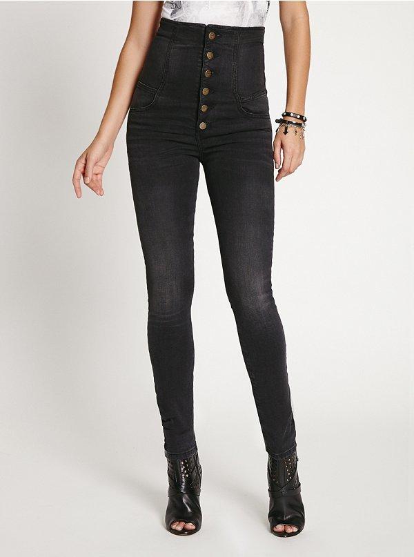 GUESS Corset Skinny Jeans in Baldwin Wash