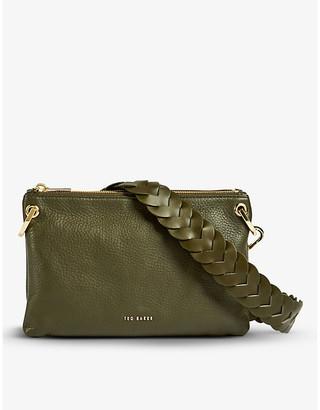Ted Baker Phoeba braided-strap leather shoulder bag
