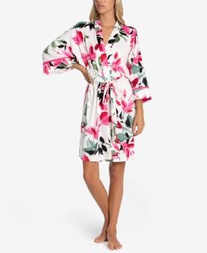 Linea Donatella Perdita Floral-Print Wrap Robe