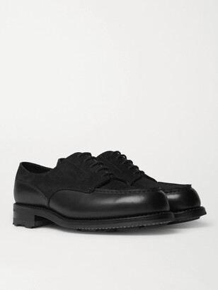 J.M. Weston Suede And Leather Derby Shoes