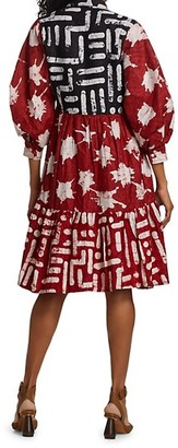 Busayo Tade Mixed Print Shirtdress