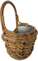 One Kings Lane Vintage Zinc-Lined Wall Basket