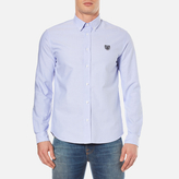 Kenzo Casual Fit Oxford Tiger Shirt Sky Blue