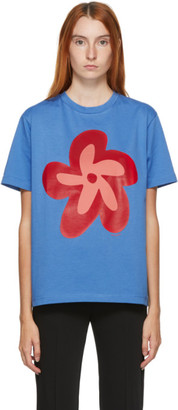 Molly Goddard Blue Flower T-Shirt