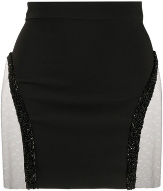 Loulou Sequin-Embellished Fitted Mini Skirt