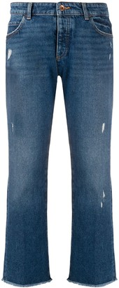 Emporio Armani Distressed Cropped Jeans