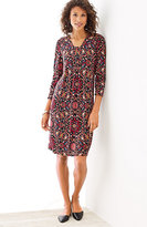 J. Jill Tapestry-Print Knit Dress