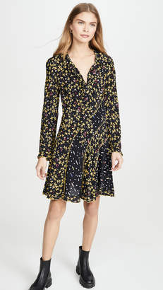 Derek Lam 10 Crosby Catia Mixed Print Dress