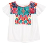Girl's Peek Fiona Embroidered Top
