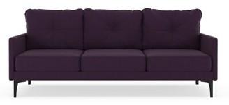 Corrigan Studio Cronin Sofa Fabric: Aubergine, Leg Color: Black