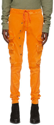 Greg Lauren Orange Army Cargo Pants