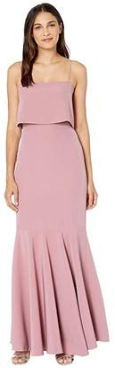 WAYF Dominic Pop Over Trumpet Skirt Gown (Mauve) Women's Dress