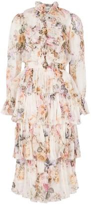 Zimmermann Brighton floral-print silk-georgette midi dress