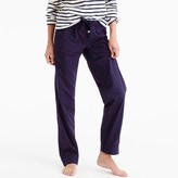 J.Crew Tall pajama pant with velvet dots