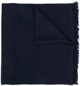 Emporio Armani Raw Edge Wool Scarf