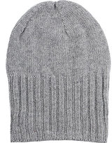 Barneys New York MEN'S WIDE-CUFF WOOL-CASHMERE HAT-LIGHT GREY
