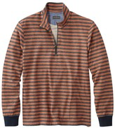 L.L. Bean L.L.Bean Signature French Terry Pullover, Quarter-Zip, Long Sleeve, Stripe, Slim Fit