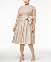 Jessica Howard Plus Size Pleated Fit & Flare Dress
