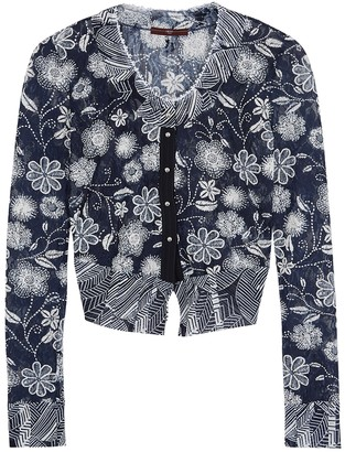 High Imagine navy floral lace cardigan