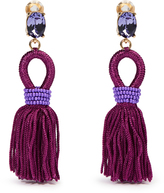 Oscar de la Renta Short tassel-drop clip-on earrings