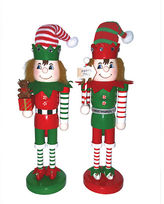 Asstd National Brand 14 Elves at Work Nutcracker- Set of 2
