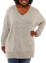 Boutique + + Bar Back Sweater Tunic Top Plus