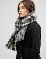 French Connection Plaid Oversized Scarf