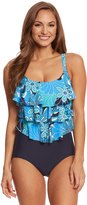 Penbrooke Shell A Go Go Tiered Fauxkini One Piece Swimsuit 8150441