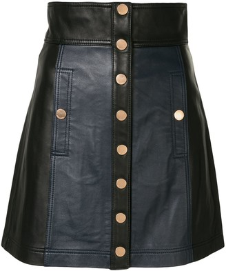 Alice McCall High Waist Leather Mini Skirt