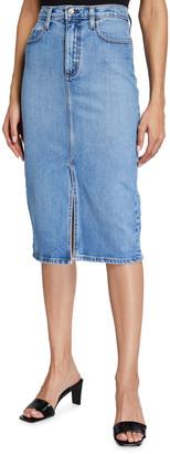 Nobody Denim Lexi Denim Midi Skirt