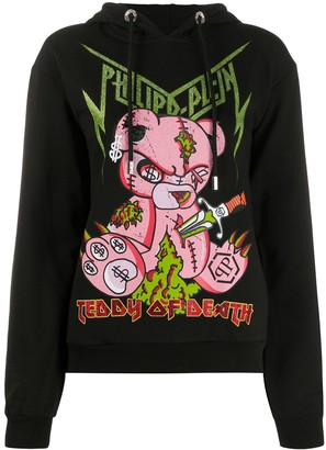 Philipp Plein Teddy of Death hoodie