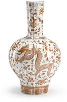 """Chelsea House 16"""" Dragon Flower Vase - Nutmeg"""