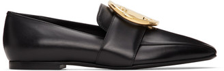 Burberry Black Leather TB Almerton Loafers