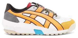 Asics Onitsuka Tiger Big Logo Leather And Suede Trainers - Mens - White Multi