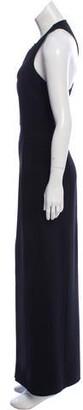 Michael Kors Virgin Wool Maxi Dress Black