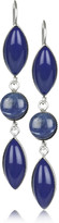 Obsidian and glass drop earrings